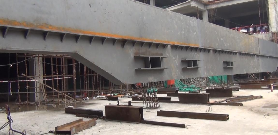 80吨大梁整体提升